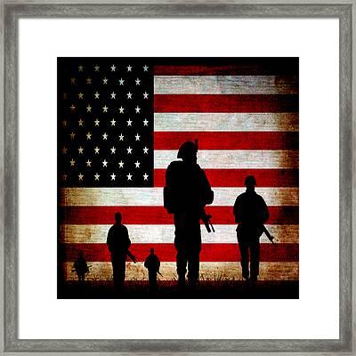 Usa Military Framed Print by Angelina Vick