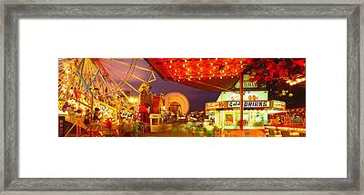 Usa, New York, Hamburg, Erie County Fair Framed Print