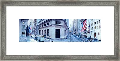 Usa, New York, New York City, Wall Framed Print