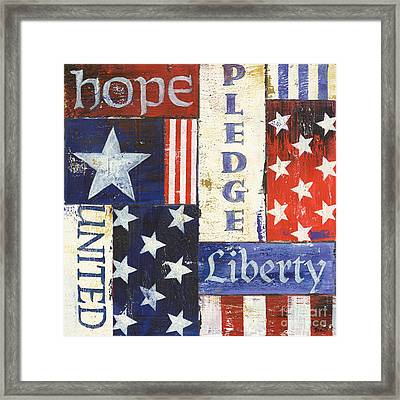 Usa Pride 1 Framed Print by Debbie DeWitt