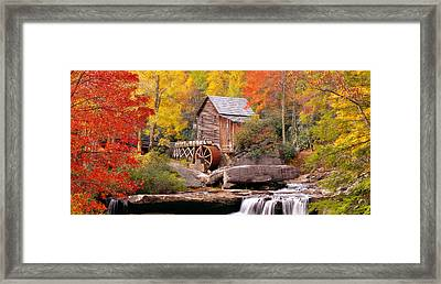 Usa, West Virginia, Glade Creek Grist Framed Print by Panoramic Images