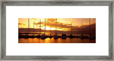 Usa, Wisconsin, Door County, Egg Harbor Framed Print by Panoramic Images