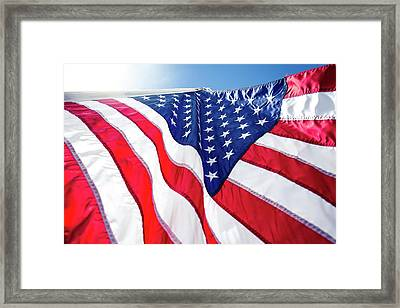 Usa,american Flag,rhe Symbolic Of Liberty,freedom,patriotic,hono Framed Print