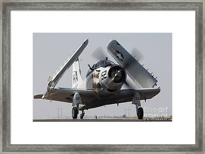 Usaf Douglas A1 A  Skyraider Framed Print by Antoine Roels