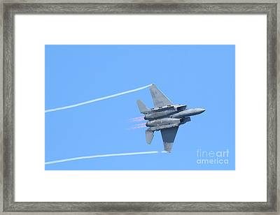 Usaf F-15 Strike Eagle . 7d7864 Framed Print by Wingsdomain Art and Photography