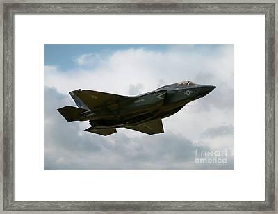 Usaf F35 Framed Print by J Biggadike