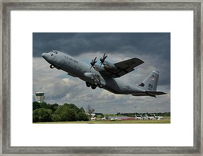 Framed Print featuring the photograph Usaf Lockheed-martin C-130j-30 Hercules  by Tim Beach
