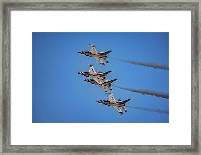 Framed Print featuring the photograph Usaf Thunderbirds by Rick Berk