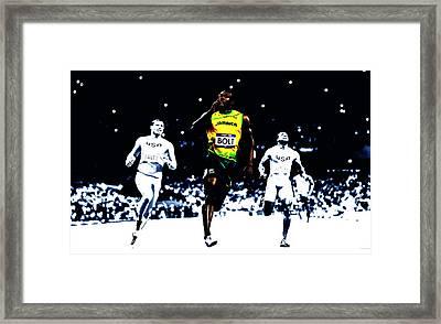 Usain Bolt Once Again Framed Print
