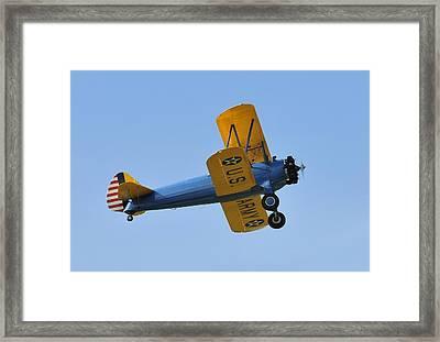 U.s.army Biplane Framed Print by David Lee Thompson
