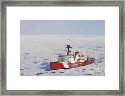 Uscgc Polar Sea Conducts A Research Framed Print