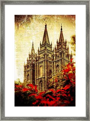 Use It Vintage Temple Framed Print by La Rae  Roberts