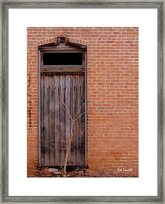 Use Side Entrance Framed Print by Ed Smith