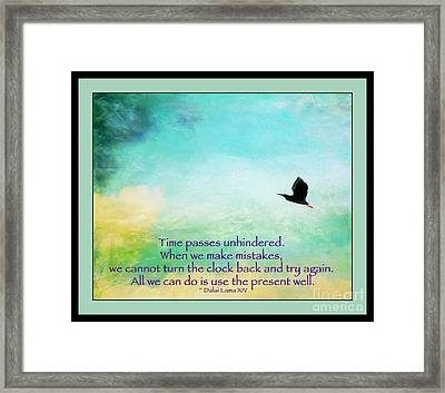 Use The Present Well Framed Print by Kerri Farley