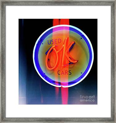 Used Ok Cars  Framed Print by Steven Digman