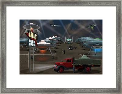 Area 51 Used U F O S Framed Print