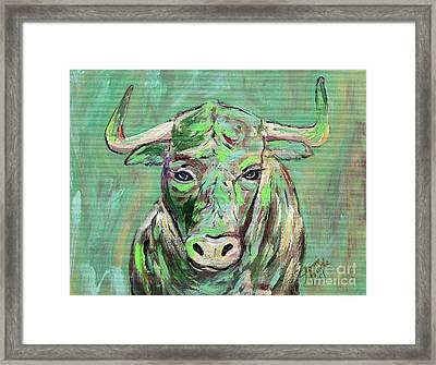 Usf Bull Framed Print by Jeanne Forsythe