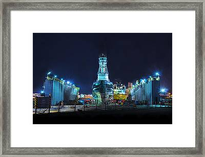 Usg Intrepid Framed Print by Marvin Spates
