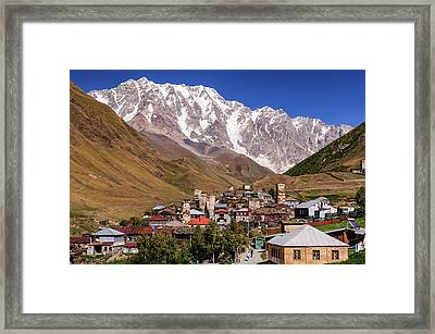 Ushguli And  Shkhara Mount Framed Print