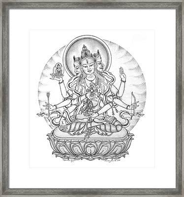 Ushnisha Vijaya Framed Print by Carmen Mensink
