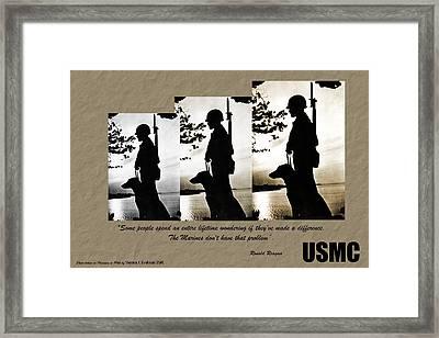 Usmc 1944 Framed Print