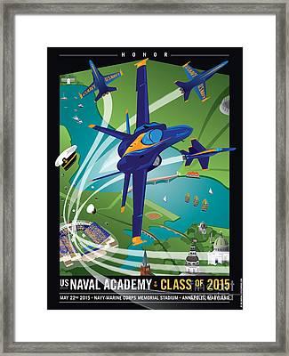 Usna Class Of 2015 12 X 16 Framed Print