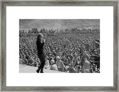 Uso Entertains Troops In Vietnam. Ann Framed Print