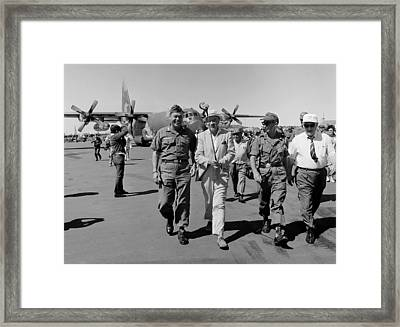 Uso Entertains Troops In Vietnam. Bob Framed Print