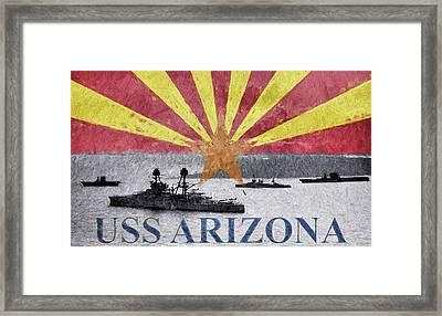 Uss Arizona Framed Print