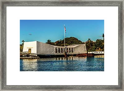 Uss Arizona Memorial Framed Print by Jon Burch Photography