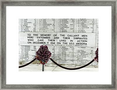U.s.s. Arizona Memorial Framed Print