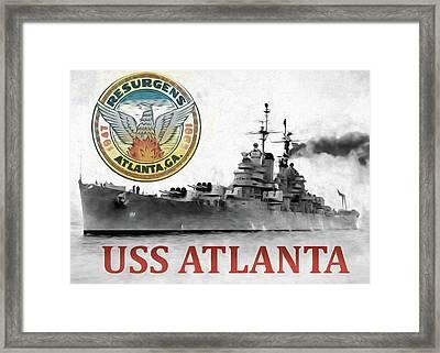 Uss Atlanta Framed Print