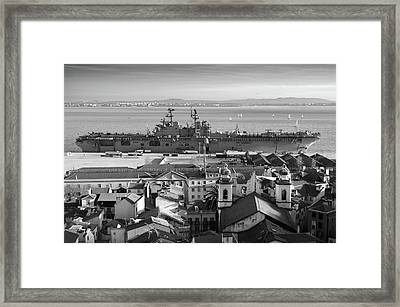 Uss Bataan In Lisbon Framed Print