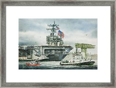 Uss Carl Vinson Framed Print by James Williamson
