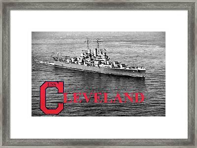 Uss Cleveland Framed Print