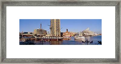 Uss Constellation, Inner Harbor Framed Print