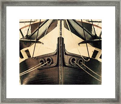 Uss Constellation Framed Print by Lisa Russo
