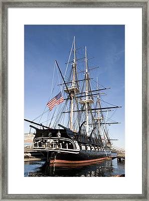 Uss Constitution Framed Print by Tim Laman