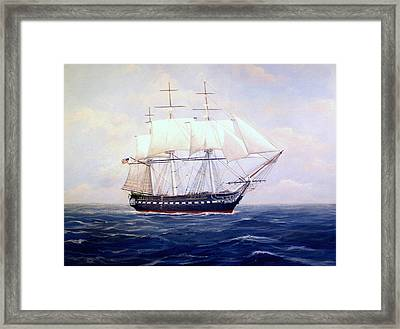 Uss Constitution Framed Print by William H RaVell III