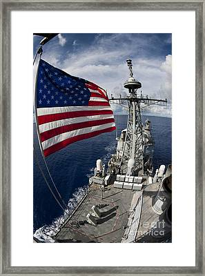 Uss Cowpens As Seen From The Top Framed Print