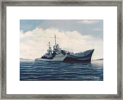 Uss  Cruiser San Juan Framed Print by William H RaVell III
