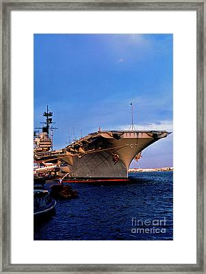 Uss Forrestal Cv-59 Framed Print by Thomas R Fletcher