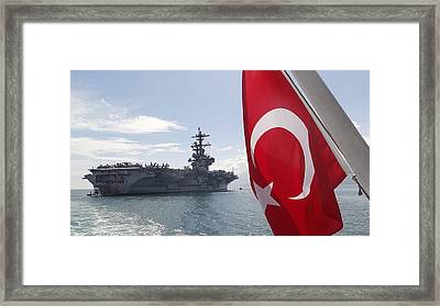 Uss George H W Bush Framed Print by Celestial Images
