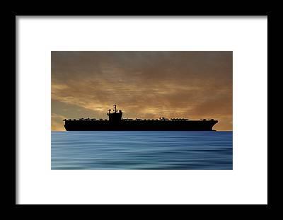 Uss George H W Bush Framed Prints