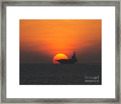 Uss George H.w. Bush Framed Print by Celestial Images
