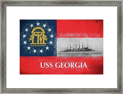 Uss Georgia Flagship Framed Print
