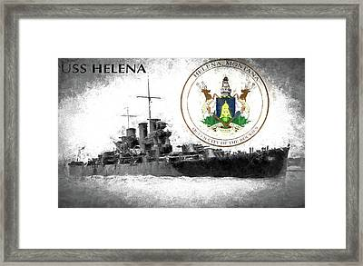 Uss Helena Framed Print