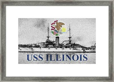 Uss Illinois Framed Print by JC Findley