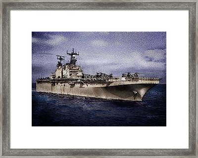 Uss Iwo Jima Lph2 Framed Print