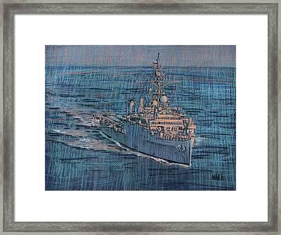 Uss Juneau Lpd 10 Framed Print by Donald Maier